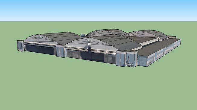 Airport hangar in San Bernardino, CA, USA