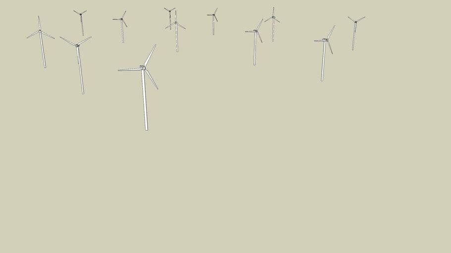 une ferme  éoliennes