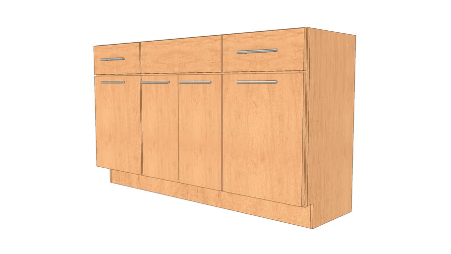 Vanity Cabinets - Avery Maple Honey Spice by KraftMaid® Cabinetry