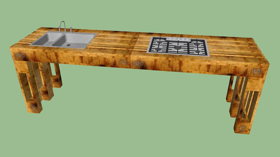 modern wooden pallet kitchen
