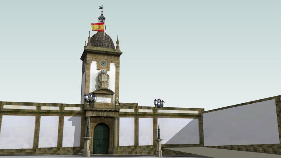 Porta do Dique da Campana. Arsenal de Ferrol