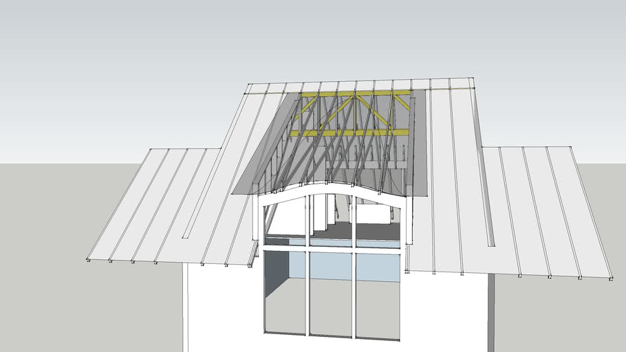 Shed Dormer Eyebrow Roof Truss Framing 3d Warehouse