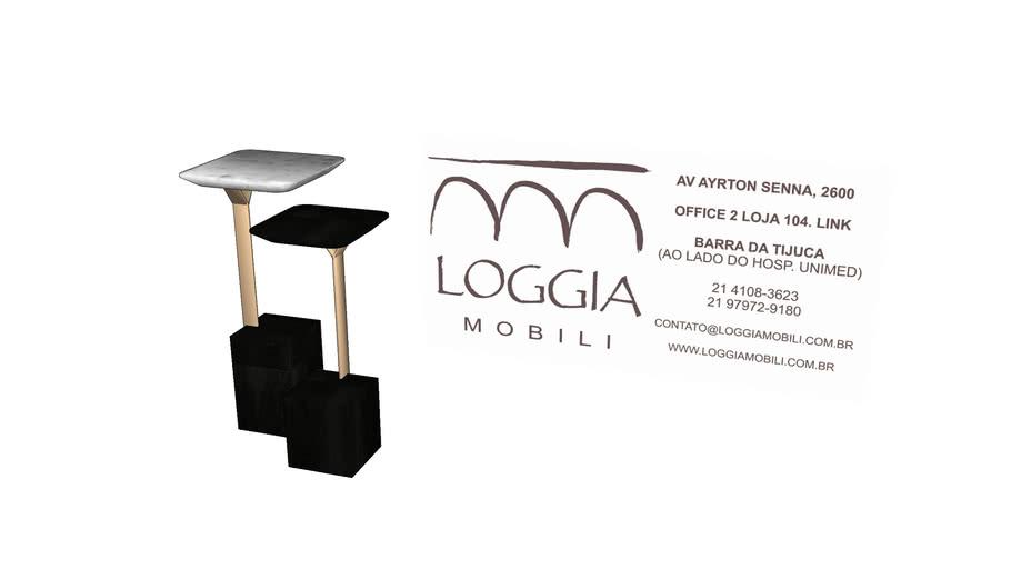 Mesa Lateral Pietra TM Loggia Mobili