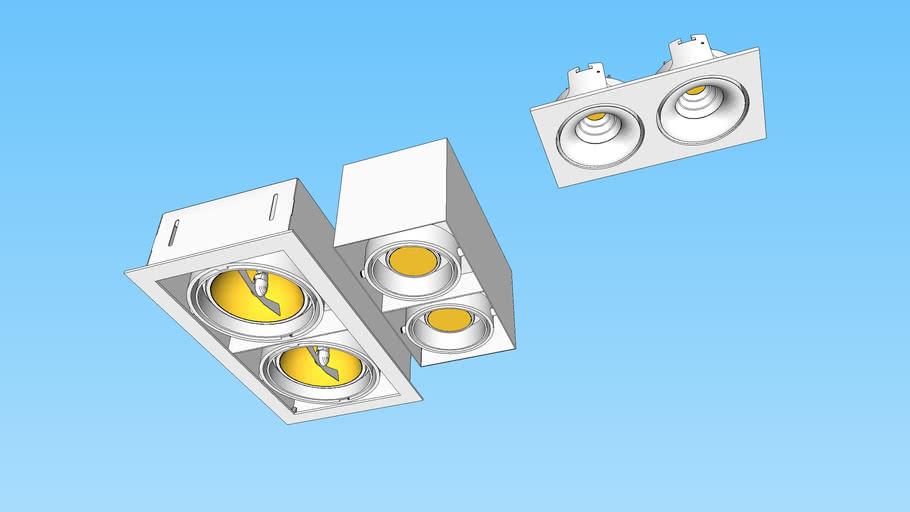 Luminária com 2 lâmpadas