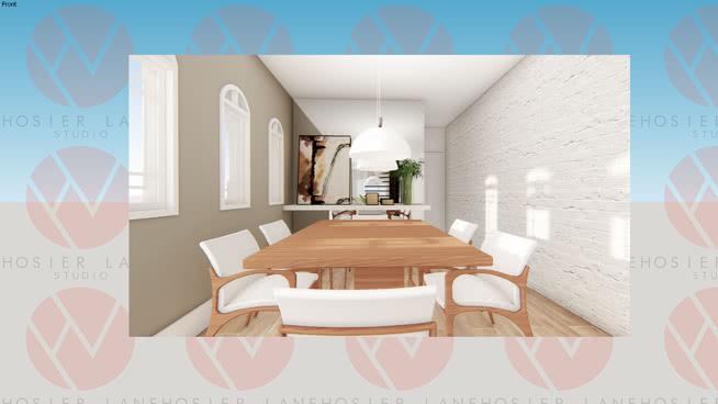 Mesa de Jantar 6 Lugares e Aparador decor