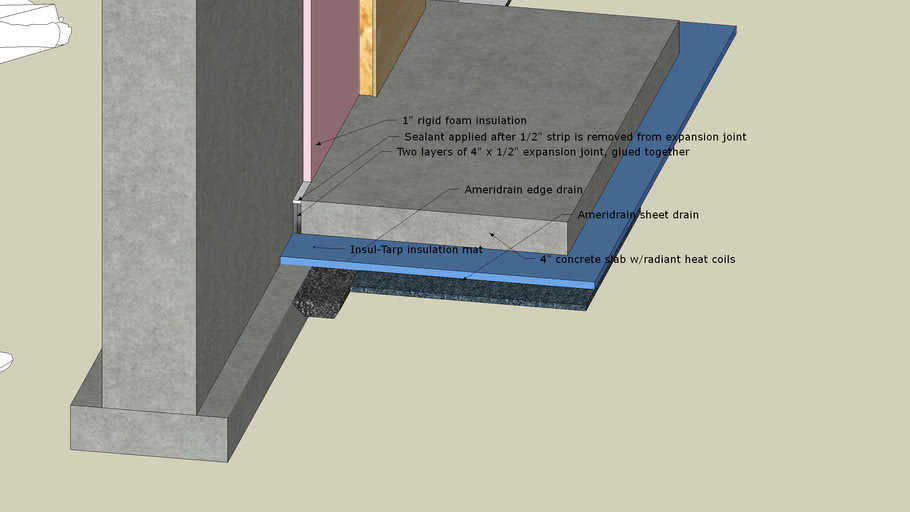 Foundation Slab With Expansion Joint