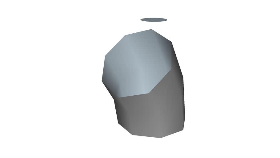 45� elbow, 8�, low polygon