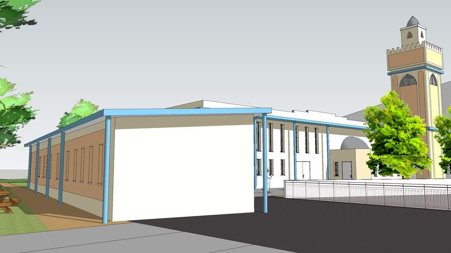 Mosquée ARMV - Maquette Extension + parking