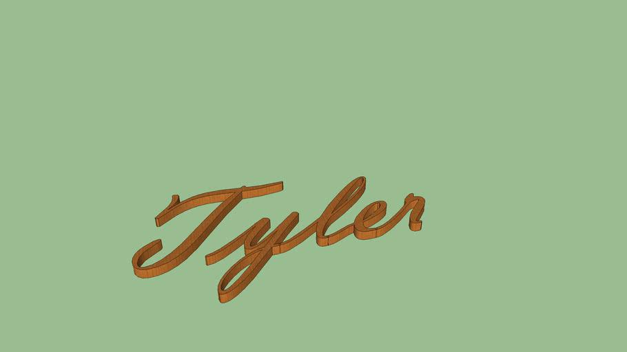 Tyler in cursive