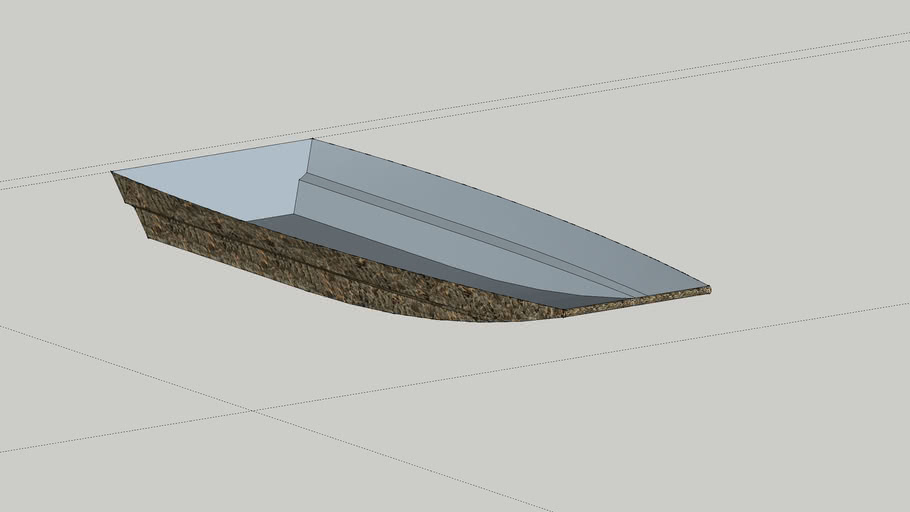 Boat surfaces - made in pieces then smoothed edges