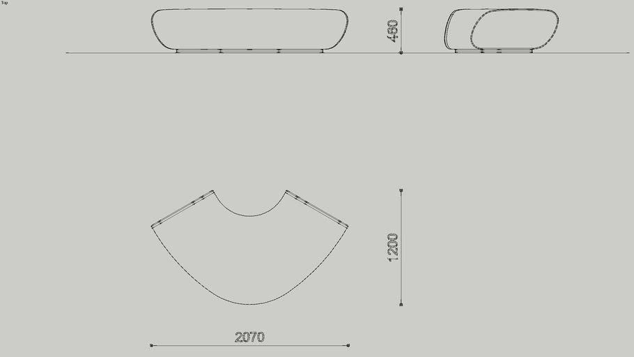 Treeline Seating - Long, Curved