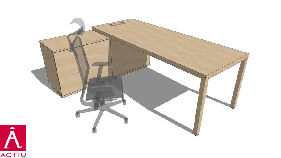 ACTIU . PRISMA desk system model MPL77