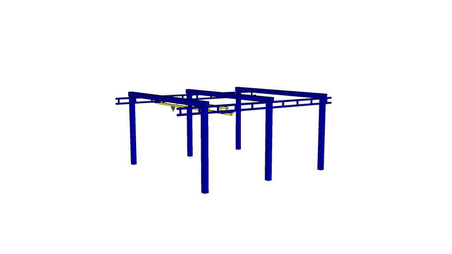 WRXX - Fress Standing Workstation Bridge Crane