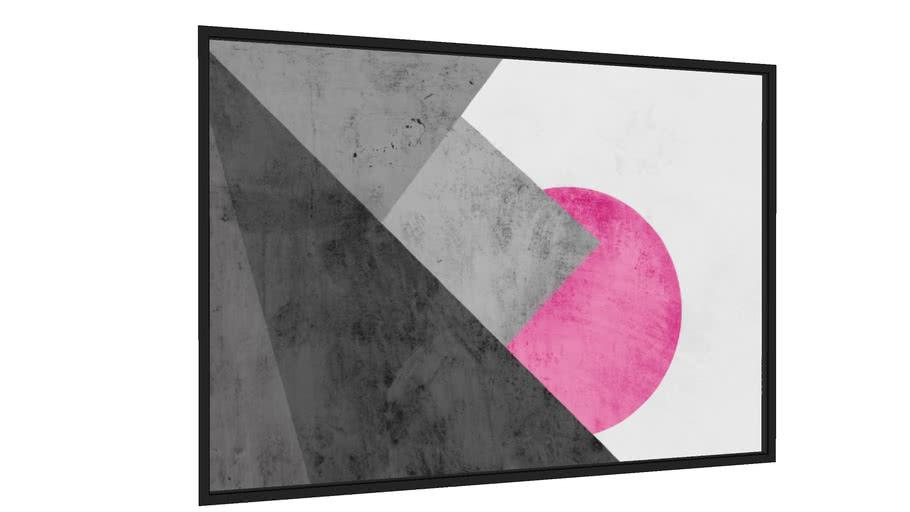 Quadro Montanha geométrica e círculo - Galeria9, por Renato Kolberg