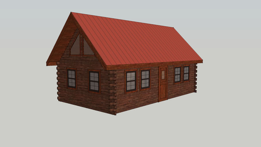 14' Wide Hunter Deluxe Log Cabin