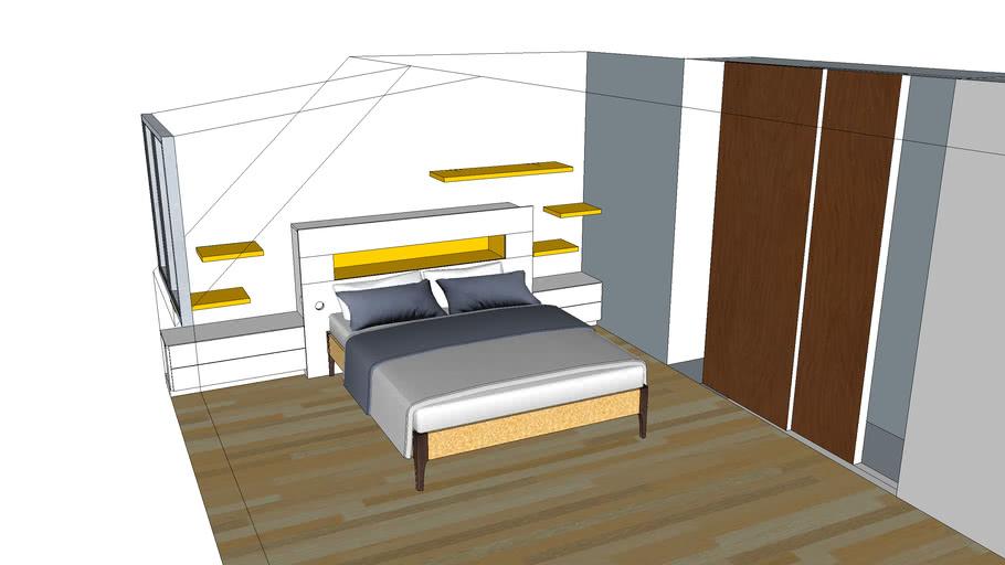 Agencement Tete de lit avec niche