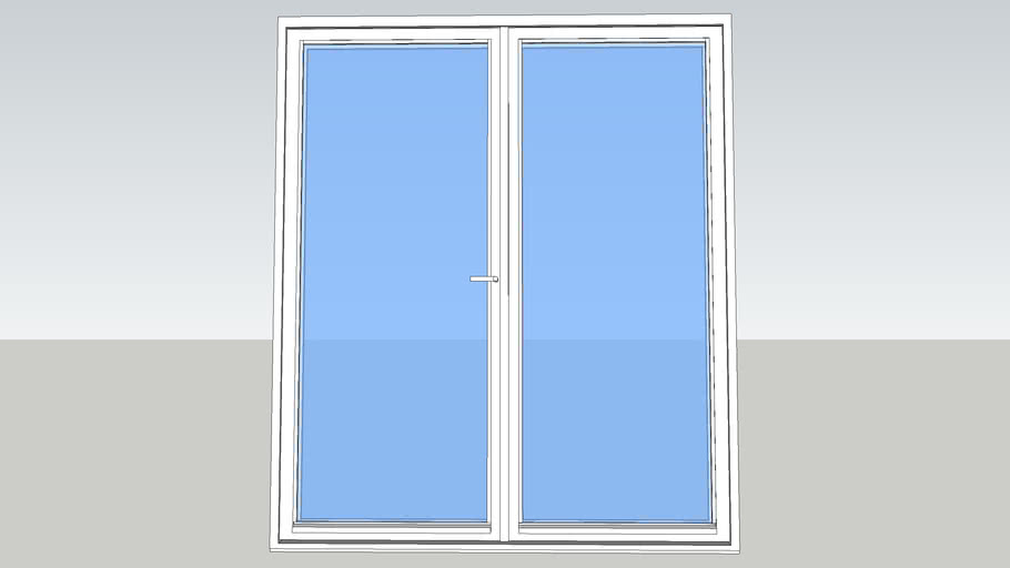 Odendörr M18x21 glaced double door