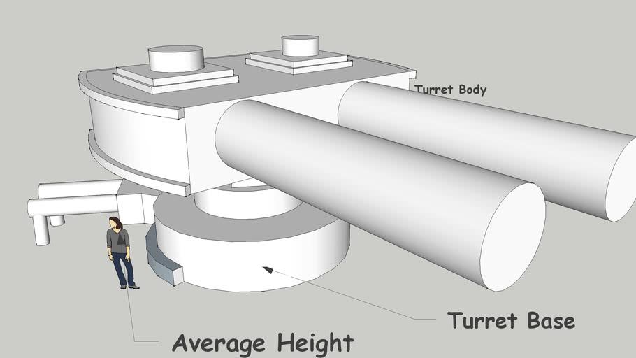 T-25 DB18 Defensive Artillery Turret