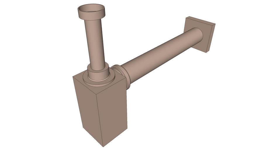DOCOL - Sifão para banheiro Square cobre escovado 636069