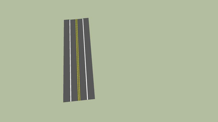 Small Road with Sidewalk