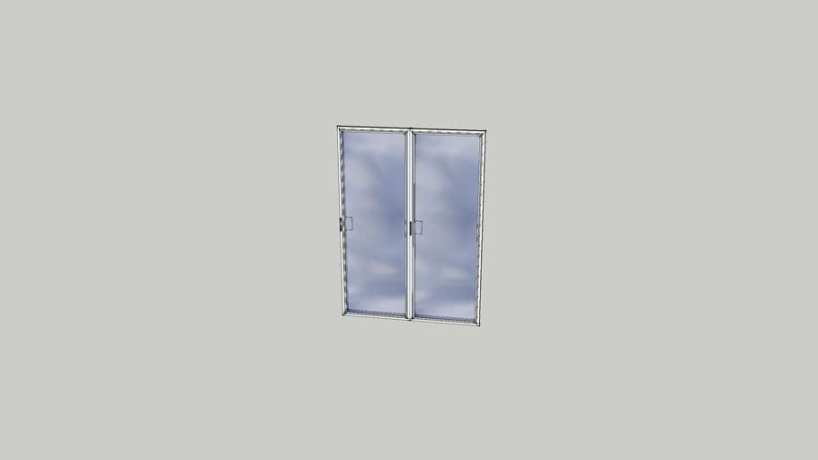 Glass Widow Double Door