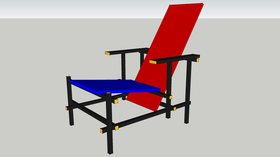Rietveld red/blue chair