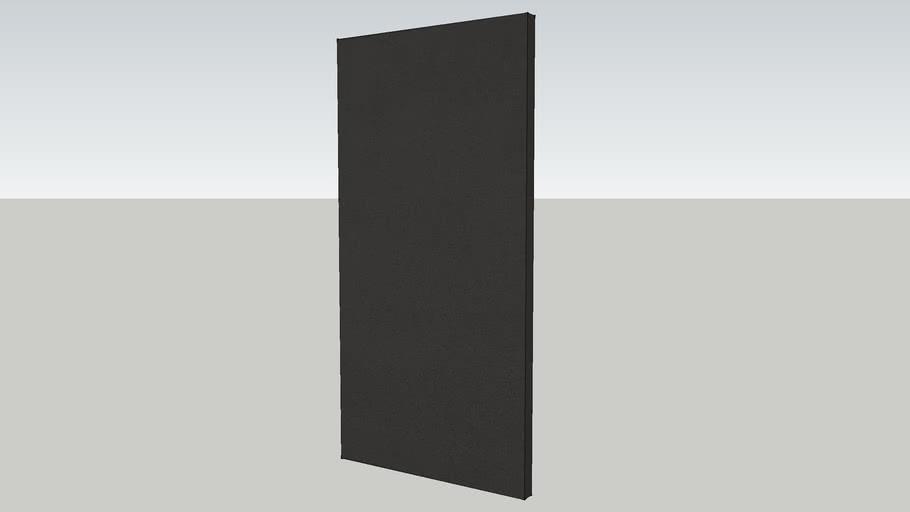 "echoshield™ Standard 4' x 2' x 2"" Acoustic Panel - Black Microsuede"