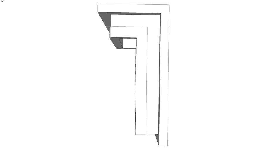 kafel gładki rogowy 22x11x11