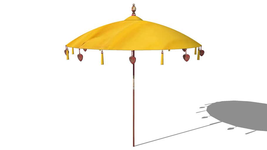 Parasol BALINAIS jaune, Maisons du monde. Réf: 130.996 Prix:129€