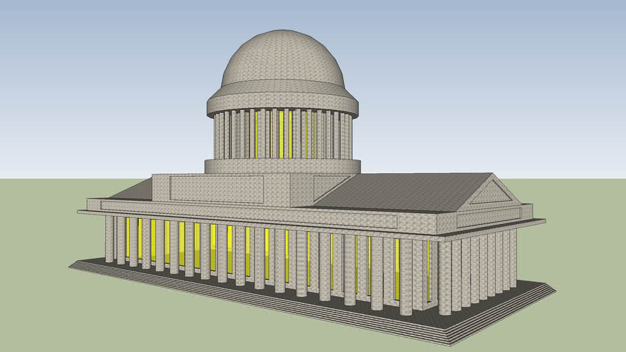 GREEK-ROMAN STYLE PUBLIC BUILDING