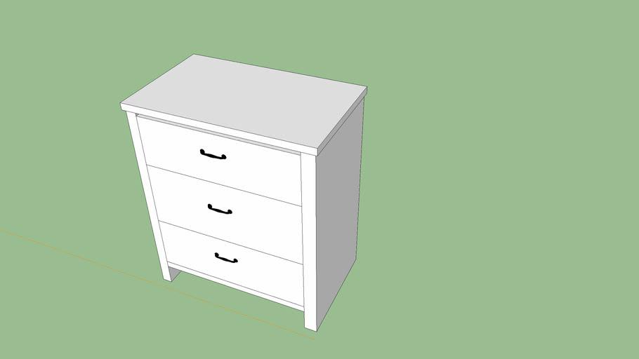 BRUSALI IKEA Dresser 3-drawer chest