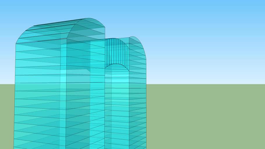 Groot futuristisch gebouw 1.0