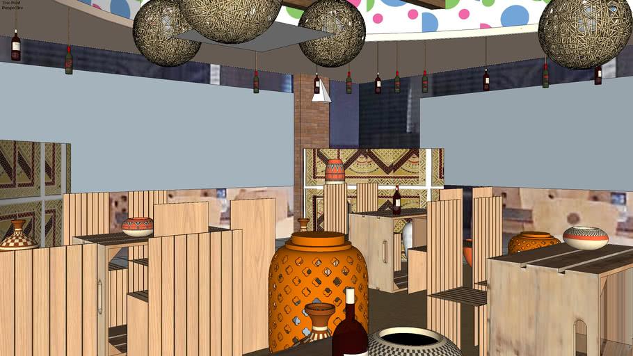 Dhaba style cafe design