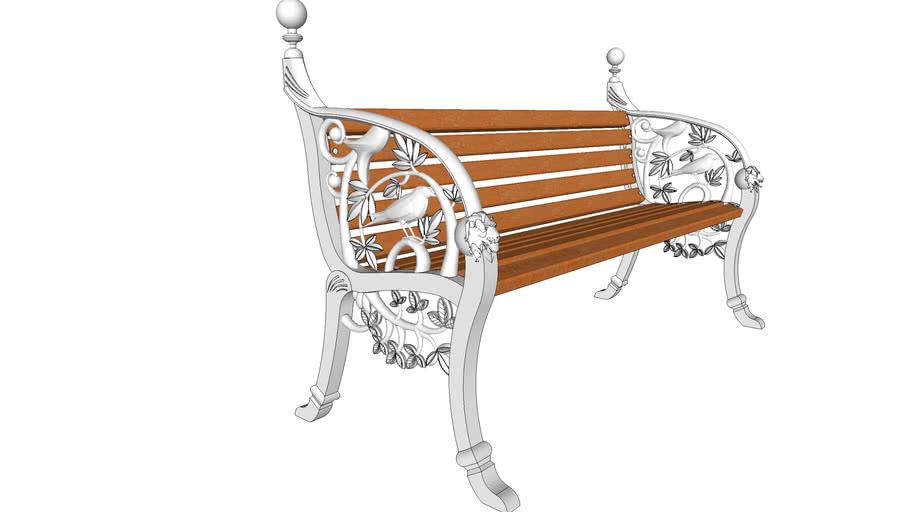 Скамейка алюминиевая Соловей / Aluminum bench Nightingale / Solovey