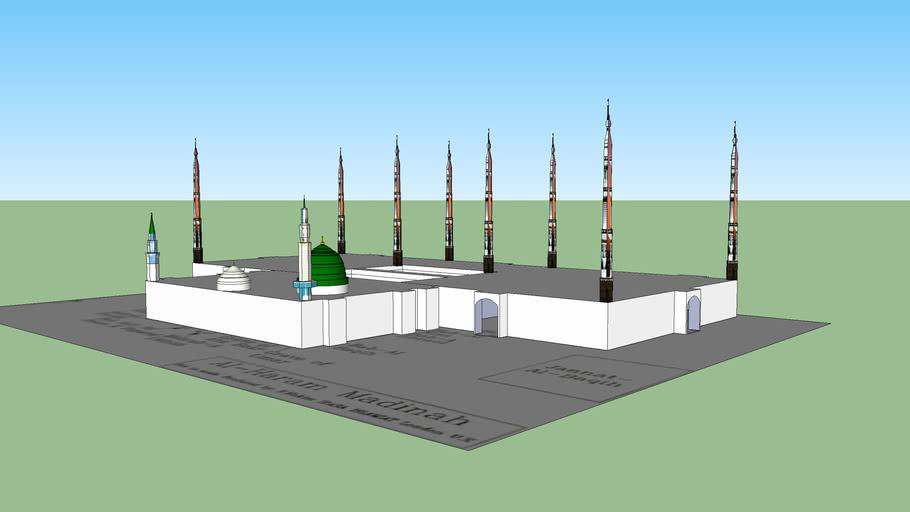 Al Masjid Al Nabawi In Madinah Al Monawarah 3d Warehouse