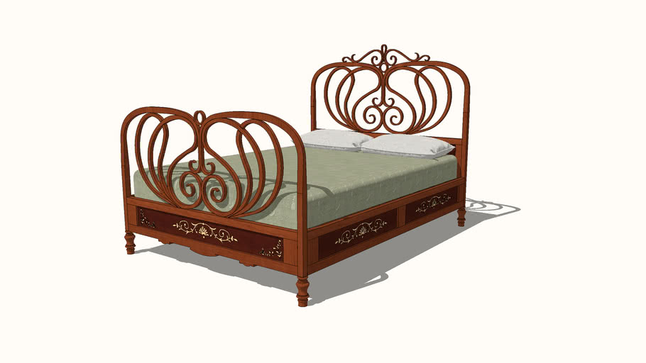 Bentwood 1900 Double Bed