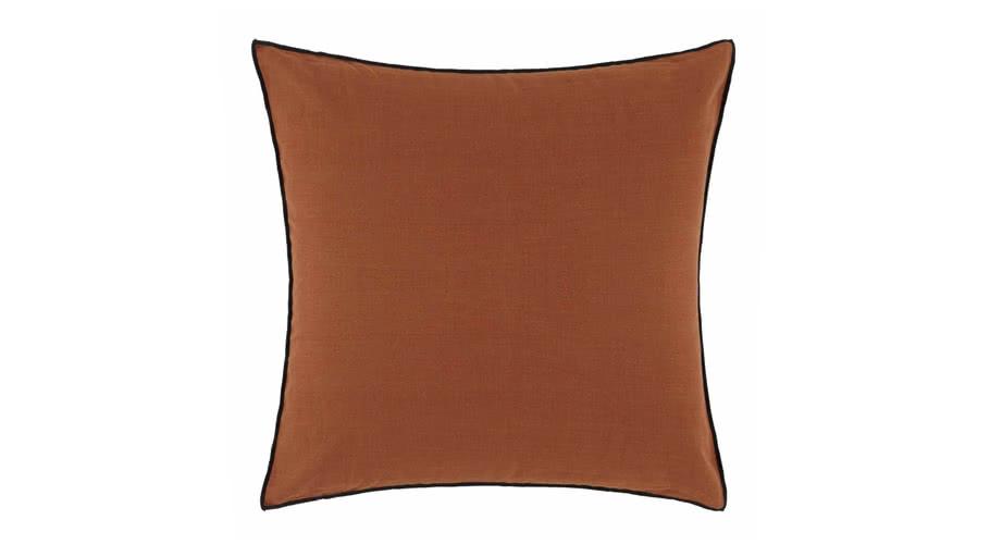 Cushion cover CARLINA by Madura 50x50 cm Terracotta and black bourdon / 20€ - 55€ TTC