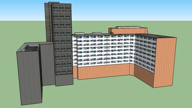 Zgrada Generalstaba(leva strana) - Ulica Kneza Milosa - Beograd,Srbija (Nije GE model)