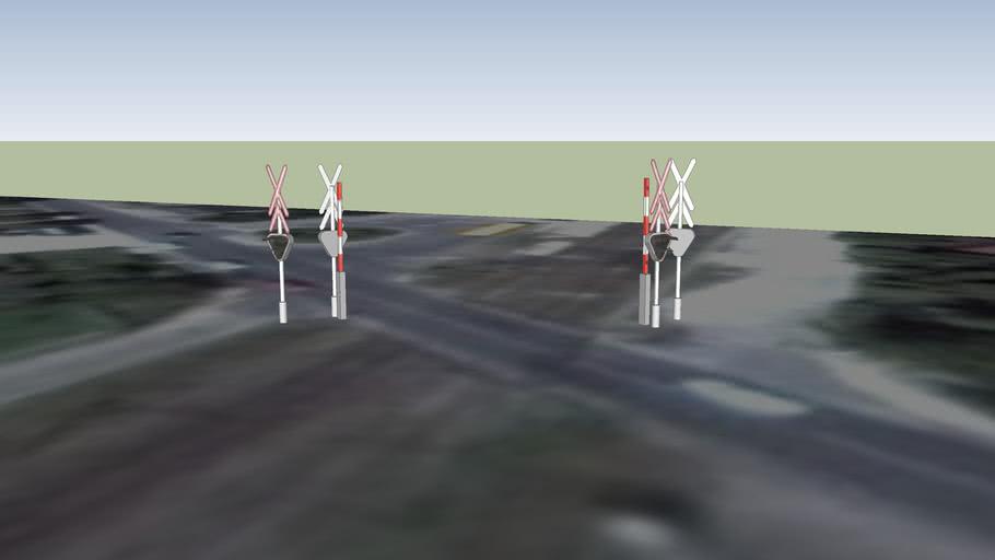 Vasúti Fénysorompók Mogyoródon - Gödöllői út