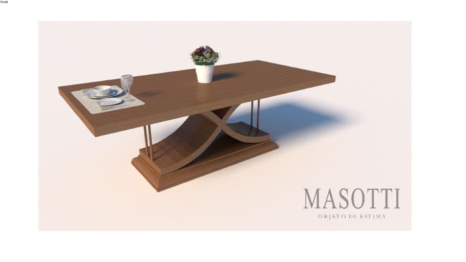 Mesa de jantar 220x110 Coleção Masotti MAS.385.3 F15