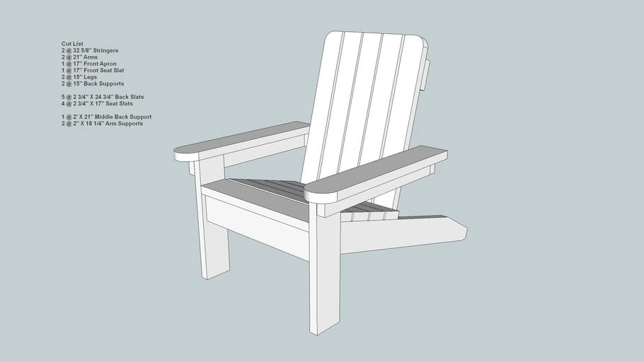 Larger Childs Adirondack Style Chair