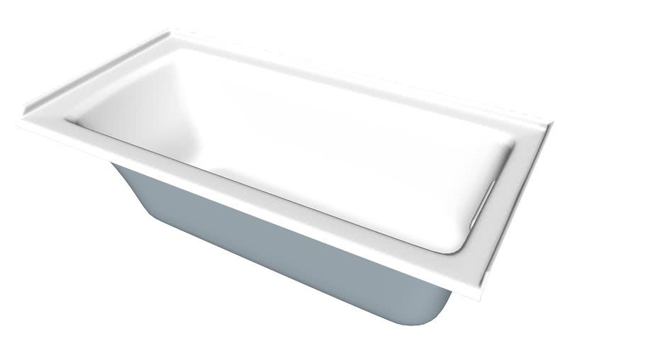 """K-1946-R Archer(R) 60"""" x 30"""" alcove bath with integral flange and right-hand drain"""