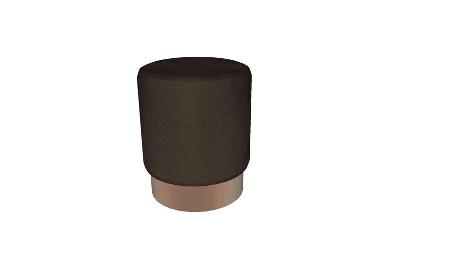 84831 Stool Cherry Dark Brown Copper 35cm