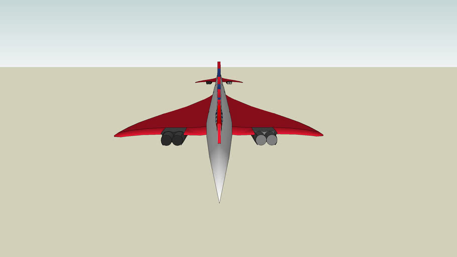 Air France Concorde with red wings