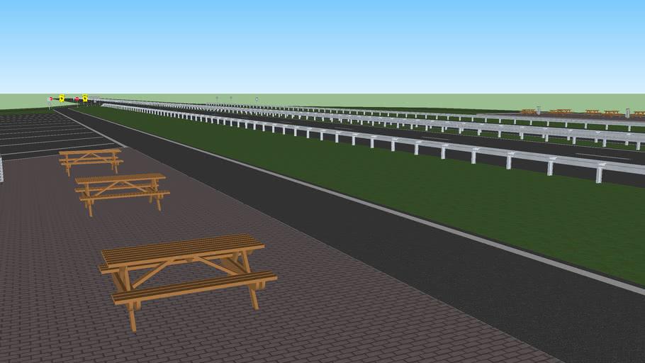 een snelweg parkeerplaats