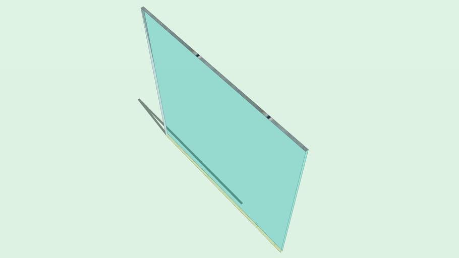 Panel de Vidrio separador ambientes 1.5x1.5x0.02