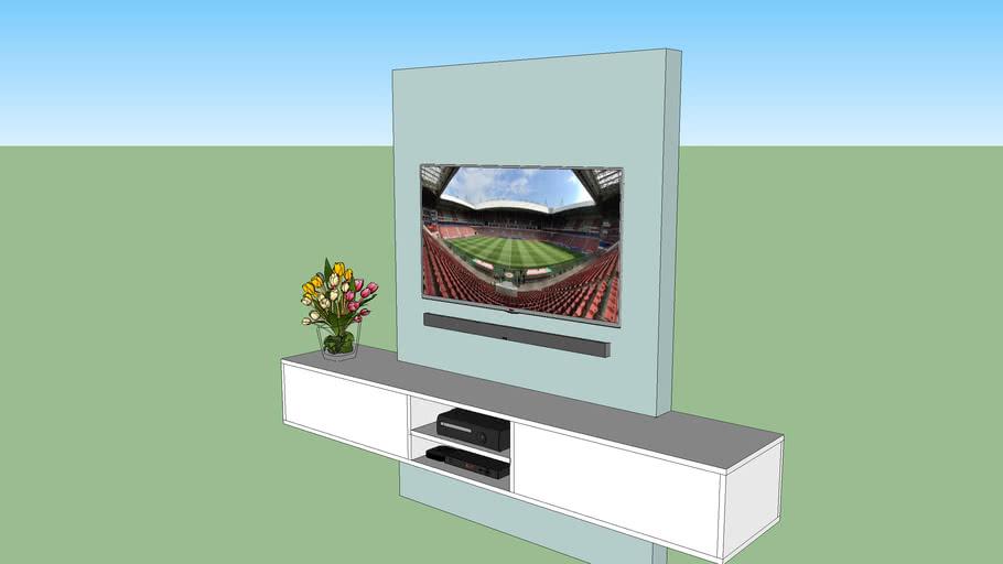 Spiksplinternieuw TV meubel met achterwand | 3D Warehouse JA-33