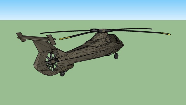 RAH-66 Comanche Stealth Helicopter (landing gear down) | 3D