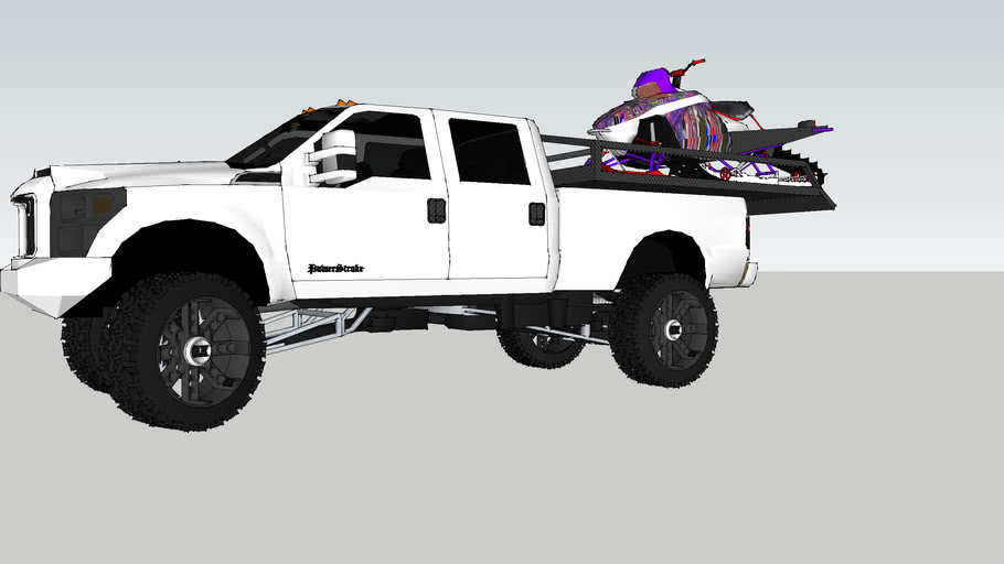 F350 with sled deck
