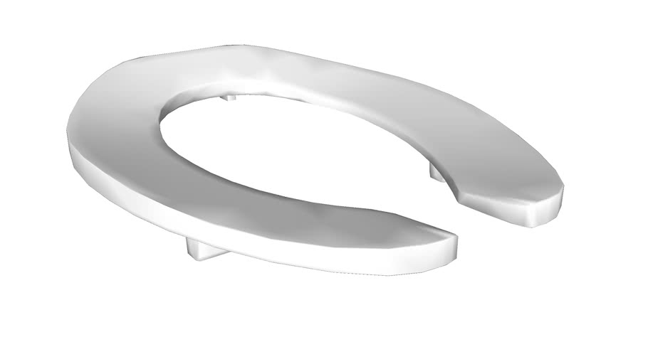 """K-4679-CA Lustra(TM) Elongated toilet seat with 1"""" bumpers and anti-microbial agent"""